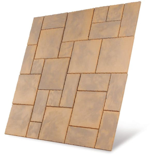 Chalice Paving Patio Kit 5.76m2 Honey Brown-Armstrong Supplies