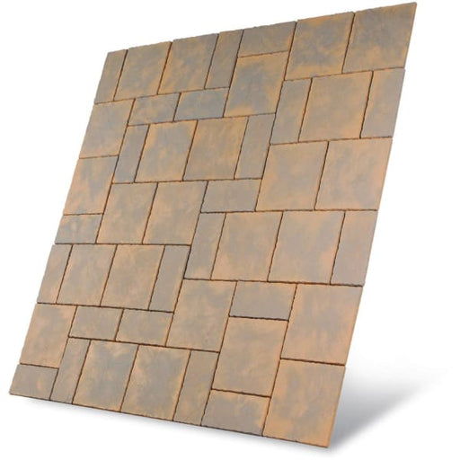 Chalice Paving Patio Kit 7.29m2 Honey Brown-Armstrong Supplies
