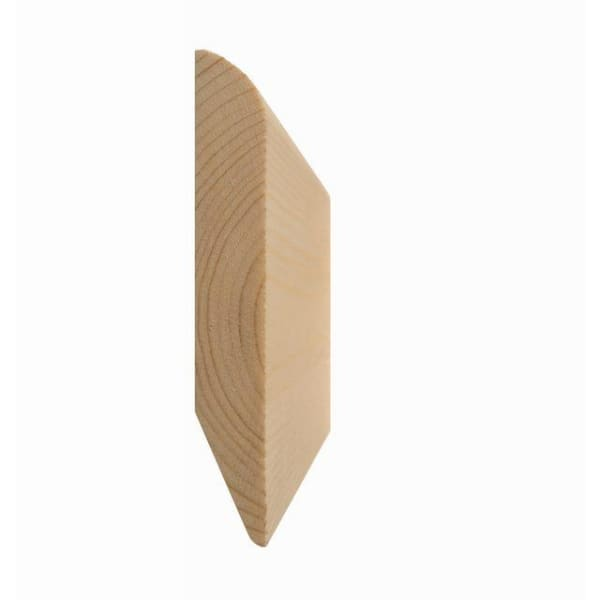 Chamfered and Rounded/Rounded Reversible Skirting Board 19 x 75mm