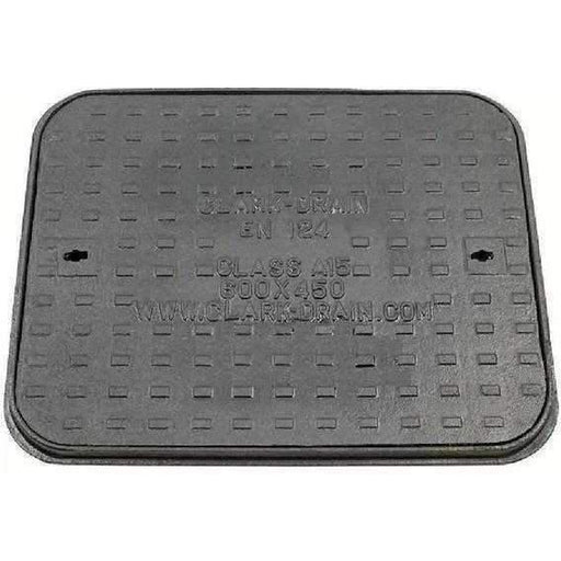 Clark Drain Manhole Cover and Frame Cast Iron 600 x 450mm-Armstrong Supplies
