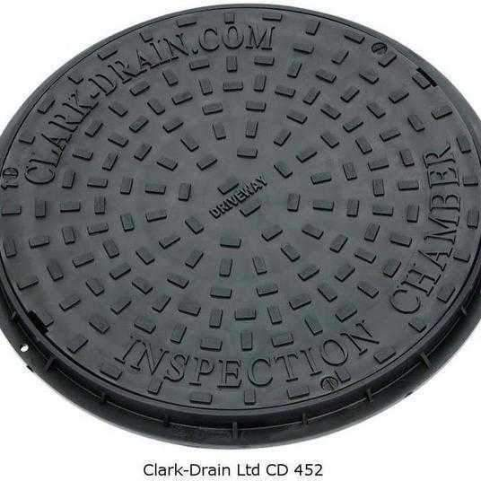 Clark-Drain Manhole Cover Circular 550 x 50mm CD 452 Polypropylene-Armstrong Supplies