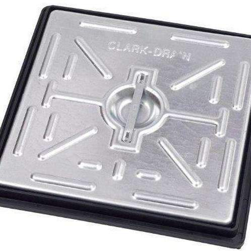 Clark Drain Manhole Cover 300 x 300mm 5T Galvanised Steel Single Seal PC2BG-Armstrong Supplies