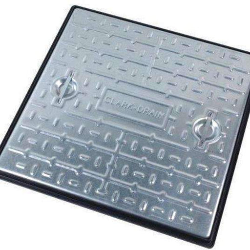 Clark Drain Manhole Cover 450 x 450mm 2.5T Galvanised Steel Single Seal PC5AG-Armstrong Supplies