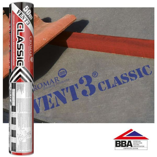 Cromar Vent 3 Classic Breathable Roofing Membrane 1.5x50m -