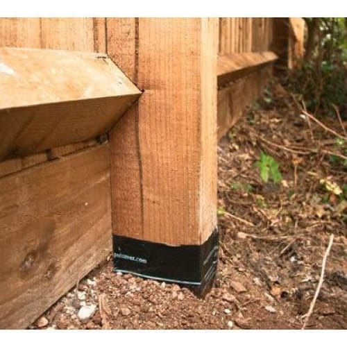 Double Life Treated Wood Brown Fence Post With Postsaver -