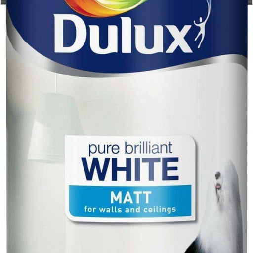 Dulux Matt 5L Pure Brilliant White-Armstrong Supplies