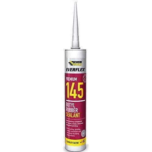Everbuild 145 Everflex Butyl Rubber Sealant - Grey - 300 ml