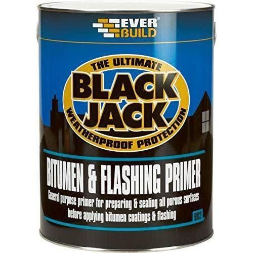 Everbuild 902 Bitumen & Flashing Primer Black 1 Litre