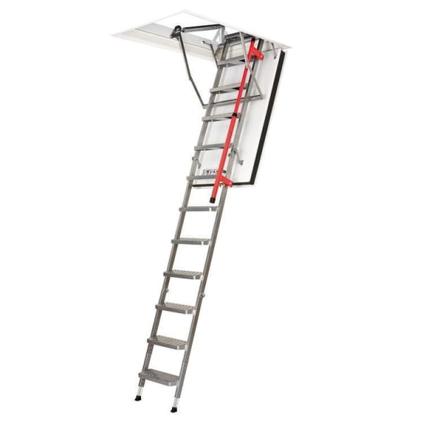 Fakro LMF Fire Resistant Metal Loft Ladder With Hatch 2.8m Length - 70cm x 130 cm-Loft Ladders-Fakro-Armstrong Supplies