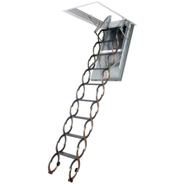 Fakro LSF Fire Resistant Scissor Metal Loft Ladder With Hatch- 70cm x 110cm-Loft Ladders-Fakro-Armstrong Supplies