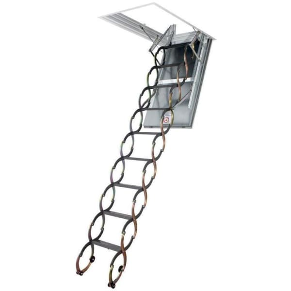 Fakro LSF Fire Resistant Scissor Metal Loft Ladder With Hatch- 70cm x 80 cm-Loft Ladders-Fakro-Armstrong Supplies