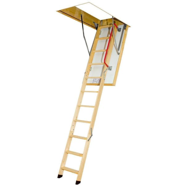 Fakro LTK Energy Wooden Loft Ladder 2.8m Length - 70cm x 130cm-Loft Ladders-Fakro-Armstrong Supplies