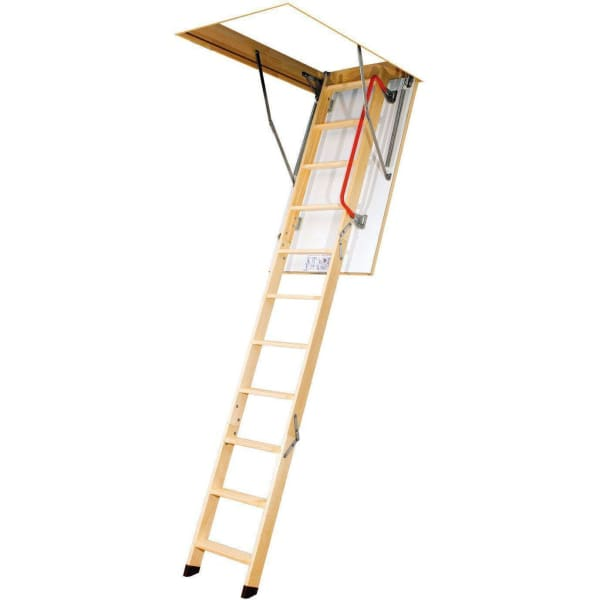 Fakro LWK Komfort 4 Section Wooden Loft Ladder 2.8m Length - 70cm x 100cm-Loft Ladders-Fakro-Armstrong Supplies
