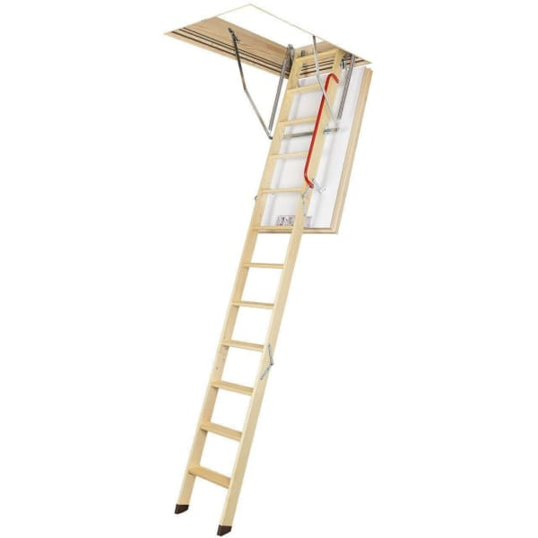 Fakro LWT Energy Efficient Wooden Loft Ladder 2.8m Length - 70cm x 120cm-Loft Ladders-Fakro-Armstrong Supplies