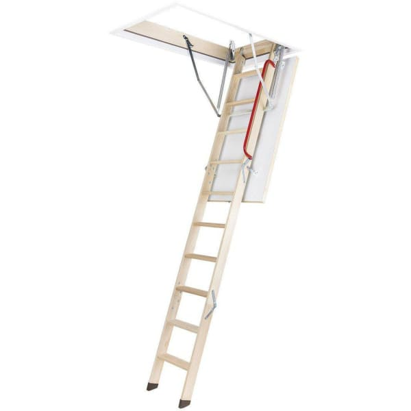Fakro LWZ Metal Frame 3 Section Wooden Loft Ladder 2.8m - 70cm x 130cm-Loft Ladders-Fakro-Armstrong Supplies
