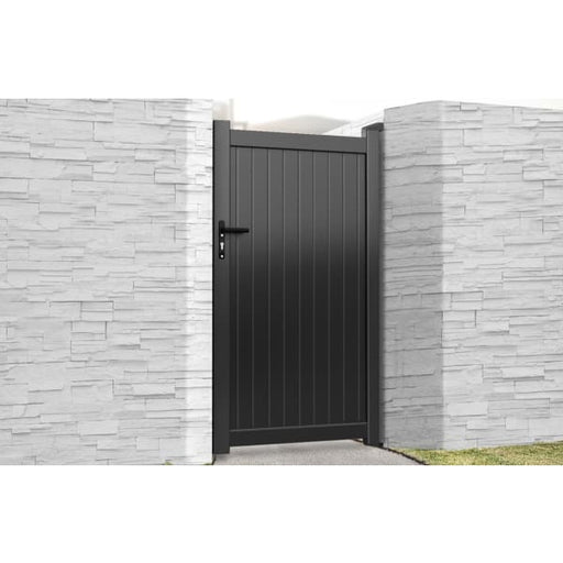 Flat Top Metal Side Gate with Vertical Infill