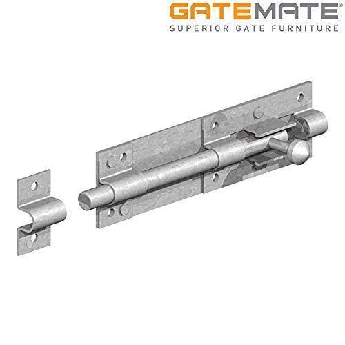 "Gatemate Tower Bolt - Galvanised - 10"" / 254mm-Gatemate-Armstrong Supplies"