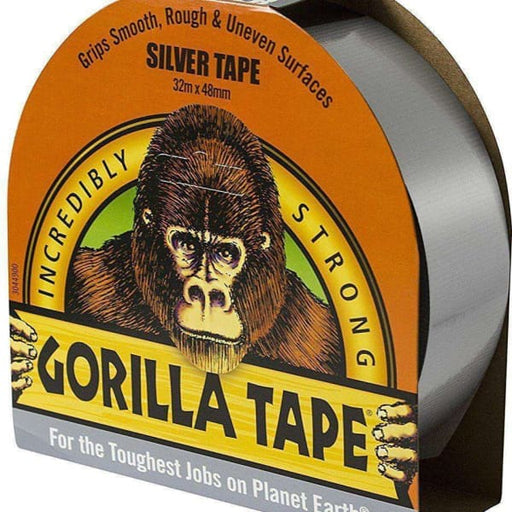GORILLA 3044901 32m x 48mm Tape for Uneven Surfaces - Silver-Armstrong Supplies