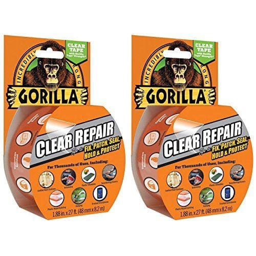 Gorilla Crystal Clear Tape Pk 2