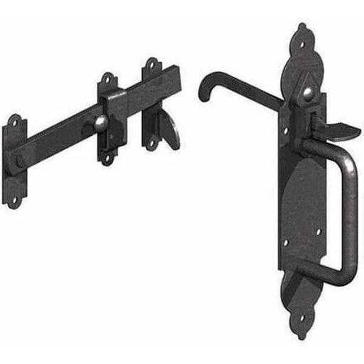 Gothic Suffolk Latch Black (Pack)-Armstrong Supplies