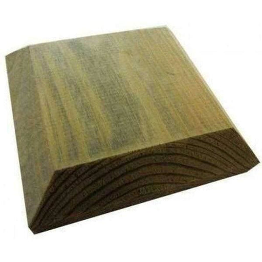 Green Treated Fence Post Cap 100mm for 75mm posts-Armstrong Supplies