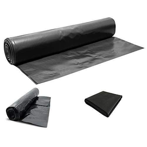 Heavy Duty Black Polythene Sheet - DPM/DPC 300 mu - 1200 Gauge - Select Size (Polythene, 25M X 4M)-300mu-Armstrong Supplies