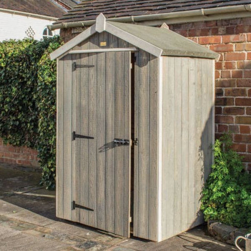 Heritage Painted Windowless Shed 4x3 Grey
