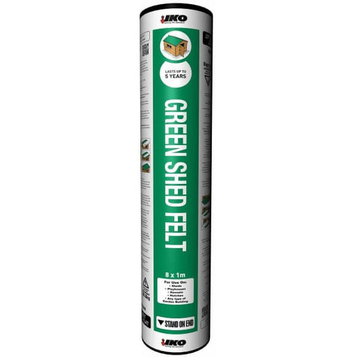 IKO Shed Roofing Felt Green 8x1m roll-Armstrong Supplies