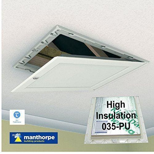 Manthorpe 035-PU High Insulated White Loft Trap Door Hinged Hatch Access-Manthorpe-Armstrong Supplies