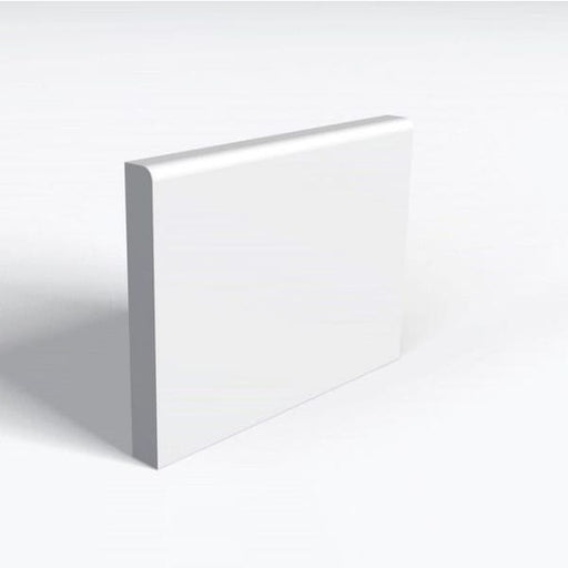 MDF Skirting 10mm Once Rounded Skirting White Primed 18x144mm Arranwood
