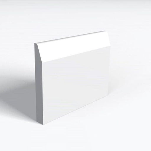 MDF Skirting Chamfered and Rounded Skirting White Primed 18x144mm Arranwood