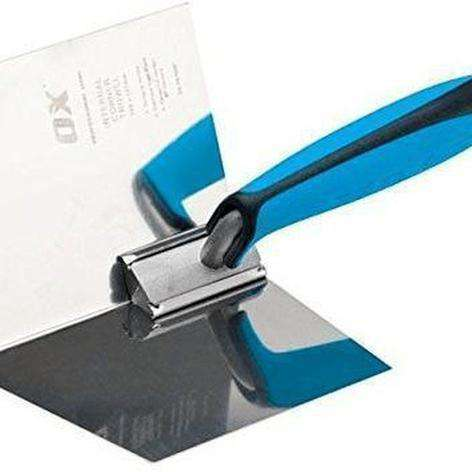 ox P013001 102 x 127 mm Pro Dry Wall Internal Corner Trowel - Blue-Armstrong Supplies