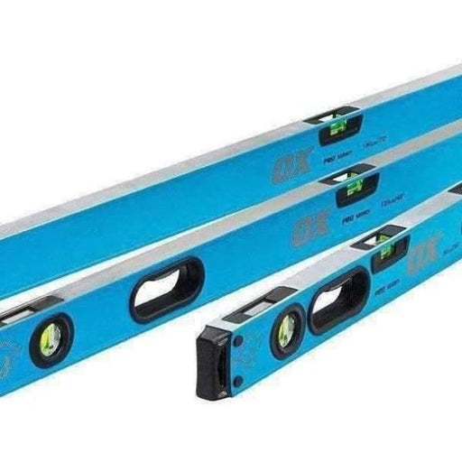 OX Pro Heavy Duty Shockproof Spirit Levels (1800, 1200, 600mm) and Bag OX-P028603-Armstrong Supplies