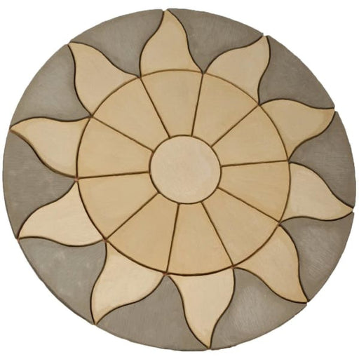 Aurora Circle 1.8m Paving Patio Kit Antique Grey-Armstrong Supplies