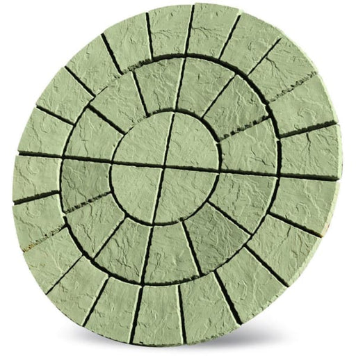 Cathedral Circle Paving Patio Kit 1.8m Weathered York-Armstrong Supplies