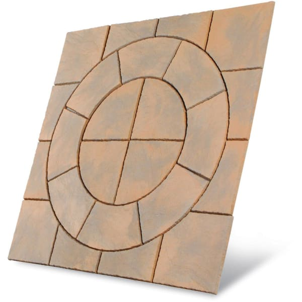 Chalice Circle Paving Patio Kit 3.24m2 Honey Brown-Armstrong Supplies
