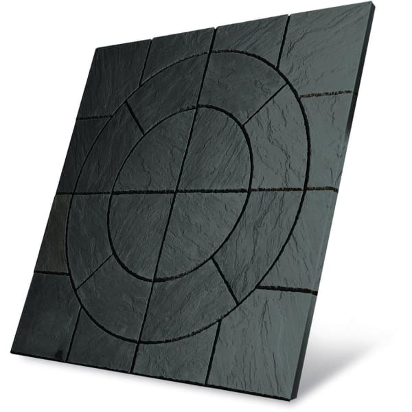 Chalice Circle Paving Patio Kit 3.24m2 Welsh Slate-Armstrong Supplies