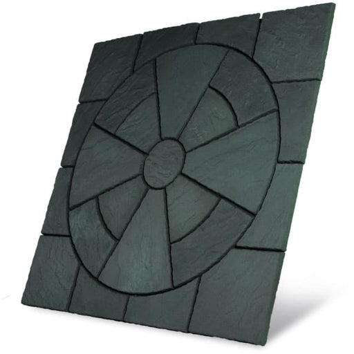 Rectory 3.24m2 Circle Paving Patio Kit Welsh Slate-Armstrong Supplies