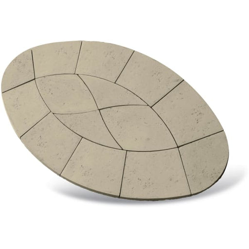 Piccolo Oval Paving Patio Kit 2.64m2 Limestone-Armstrong Supplies