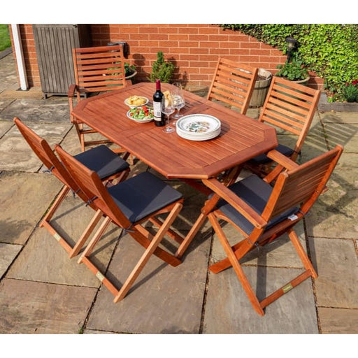 Plumley Hardwood Dining Set with Cushions