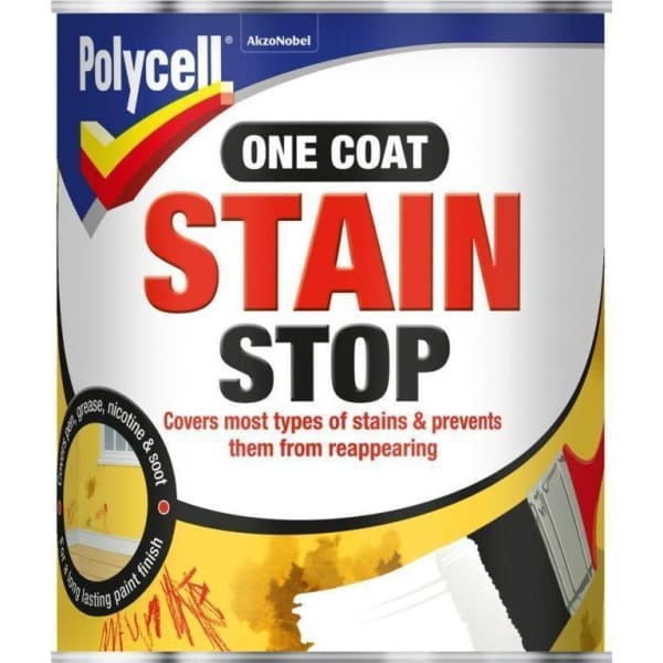 Polycell One Coat Stain Stop 1 Litre - Decorating