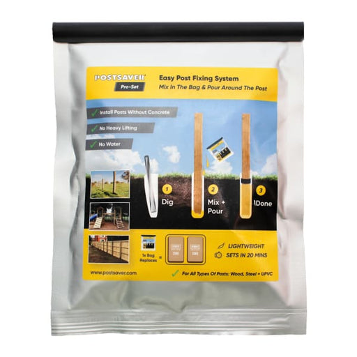 Postsaver Pro-Set Postmix Postcrete Alternative Easy Fence