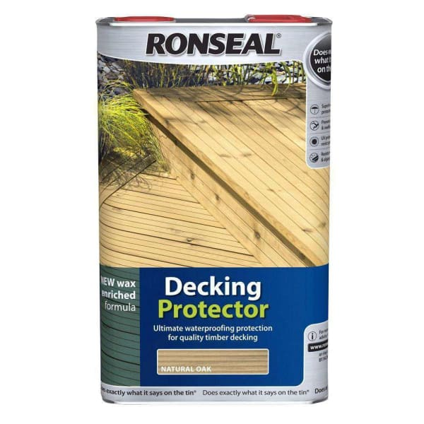 Ronseal Decking Protector 5L Natural-Armstrong Supplies