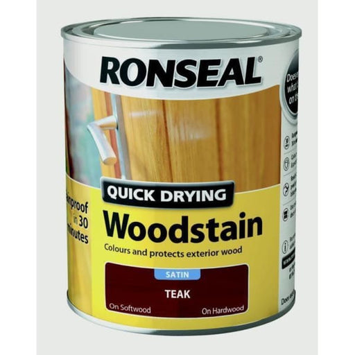 Ronseal Quick Drying Woodstain Satin - Teak