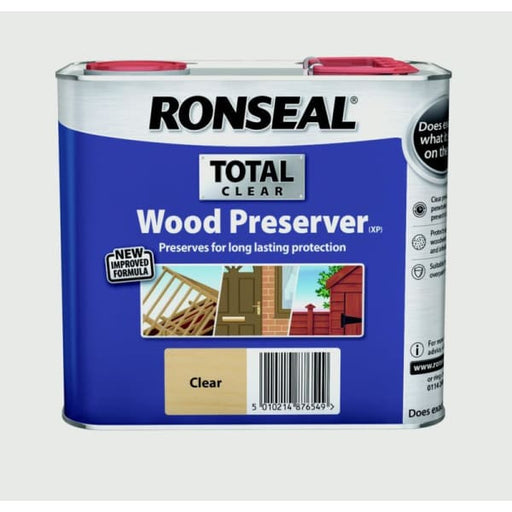 Ronseal RSLWPCL25L 2.5 Litre Total Wood Preserver - Clear