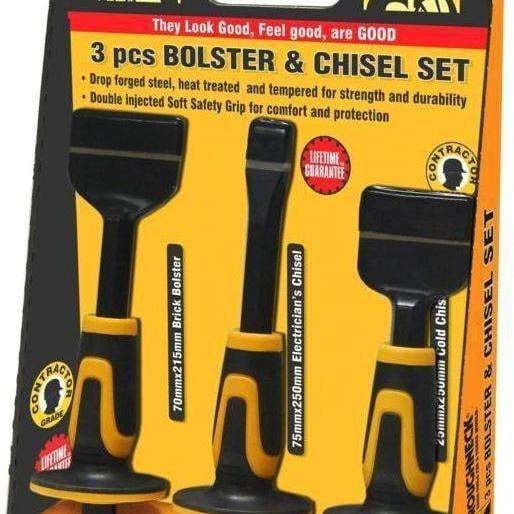 Roughneck Bolster & Chisel Set 3 Piece Set-Armstrong Supplies