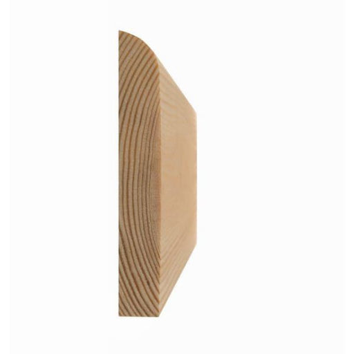 Rounded (10mm radius) Architrave Softwood 19 x 50mm