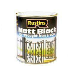 Rustins Matt Black Paint 1L-Armstrong Supplies