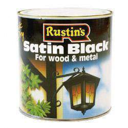 Rustins Quick Dry Satin Black 1L-Armstrong Supplies