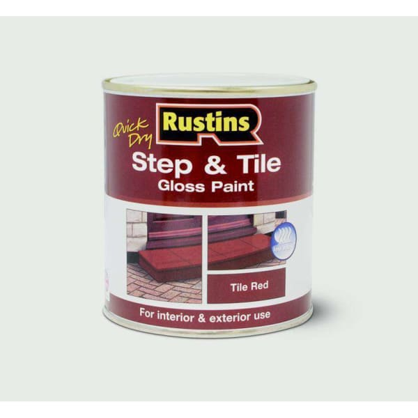 Rustins Quick Drying Step Tile Red 1L-Armstrong Supplies